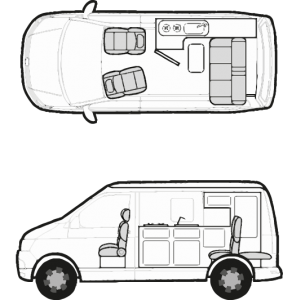 Campervan in Day Layout