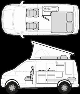 Campervan in Night Layout